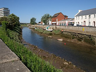 River Yeo, Barnstaple - The tidal River Yeo in  Barnstaple