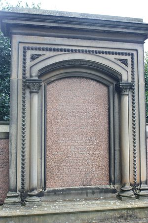 Robert Rainy - The huge monument at Robert Rainy's grave, Dean Cemetery