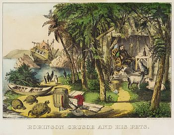 Robinson-crusoe-and-his-pets-by-currier-ives-980x765