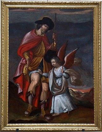 Saintes Cathedral - Image: Roch soigné par l'ange XVIII 04098