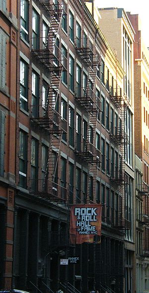 Rock and Roll Hall of Fame - The former Annex in Soho in New York City (now closed)