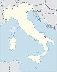 locator map for diocese of Trani