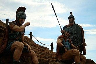 Otium - Representation of ancient Roman soldiers at rest