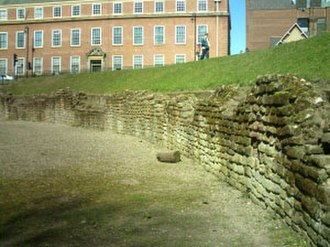Chester Roman Amphitheatre - The retaining wall surrounding the central pit.