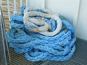 Rope on a ferry