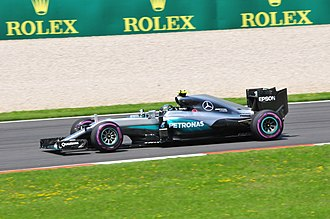 2016 Austrian Grand Prix - A grid penalty left Nico Rosberg in sixth place after qualifying.