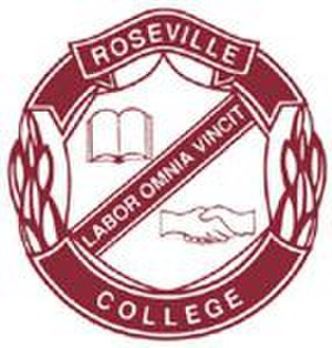 Roseville College - Roseville College crest. Source: www.roseville.nsw.edu.au (Roseville College website)