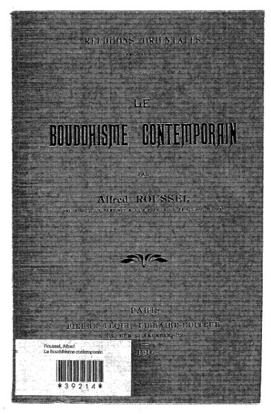 File:Roussel - Le Bouddhisme contemporain.djvu
