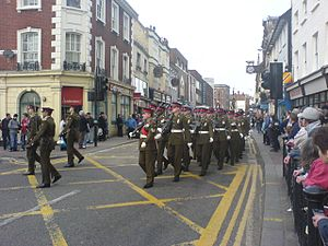 Royal Anglian Regiment - March past in Bedford
