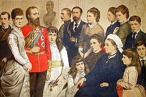 The British Royal Family in 1880.