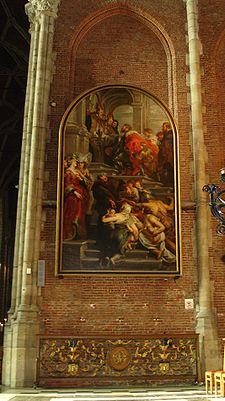 San Bavón entra en el convento de Gante, por Rubens.