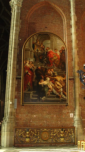St Bavo's Cathedral, Ghent - Saint Bavo enters the Convent at Ghent