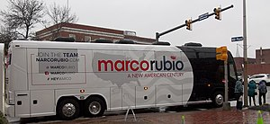 Campaign bus - U.S. Senator Marco Rubio campaign bus during 2016 New Hampshire presidential primary