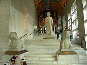 """Seattle Art Museum - The """"Art Ladder"""": the main staircase of the 1991 Venturi building, now integrated into the expanded SAM as a free public space."""