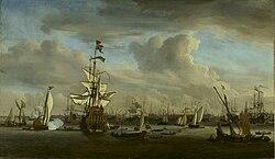 Willem van de Velde the Younger: The IJ before Amsterdam