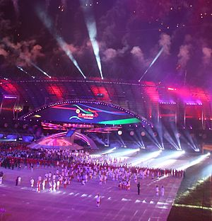 SEA Games 2011 Opening Ceremony, Palembang, Indonesia 2011-11-11 cropped