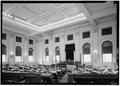 SECOND FLOOR, HOUSE CHAMBER - Maine State House, State and Capitol Streets, Augusta, Kennebec County, ME HABS ME,6-AUG,2-7.tif
