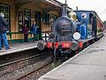 """SECR P Class """"Bluebell"""" arriving at Horstead Keynes (9129652083).jpg"""
