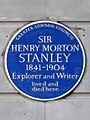 SIR HENRY MORTON STANLEY 1841-1904 Explorer and Writer lived and died here.jpg
