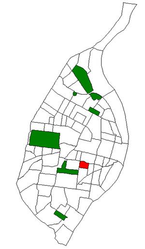 Compton Heights, St. Louis - Image: STL Neighborhood Map 26