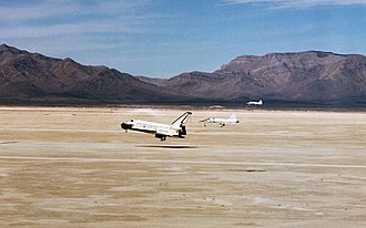 White Sands Missile Range - 1982 Space Shuttle Columbia landing at Northrop Strip
