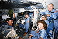 STS-61-H-MT crew in the cockpit of the Space Shuttle.jpg