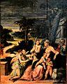 Sacra famiglia col Battista e angeli, Girolamo Mazzola Bedoli 001.JPG