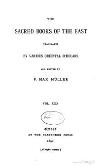 Sacred Books of the East - Volume 30.djvu