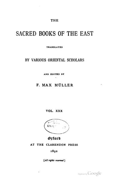 File:Sacred Books of the East - Volume 30.djvu
