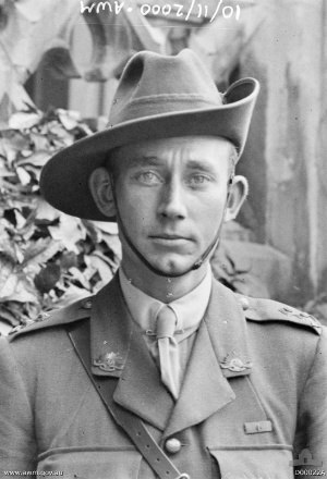 51st Battalion, Far North Queensland Regiment - Lieutenant Clifford Sadlier, who received the Victoria Cross for his actions around Villers-Bretonneux in April 1918