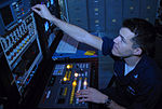 Sailors keep the entertainment rolling aboard USS Nimitz DVIDS92083.jpg