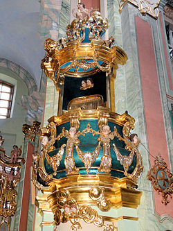 Saint Anne church in Lubartów - Pulpit - 02.jpg