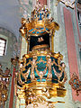 Saint Anne church in Lubartów - Pulpit - 02.jpg