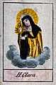 Saint Clare. Coloured etching. Wellcome V0033289.jpg