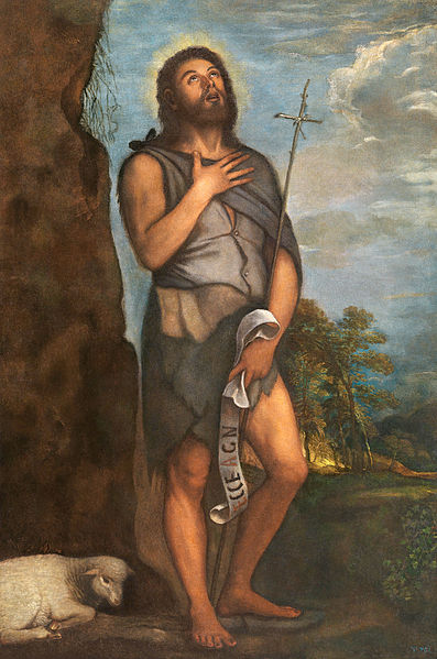 File:Saint John the Baptist by Titian. Oil on canvas, Museo Nacional del Prado.jpg