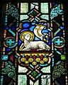 Saint Patrick Catholic Church (Junction City, Ohio) - stained glass, Agnus Dei.jpg