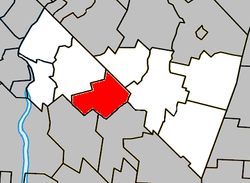 Location within Rouville RCM.