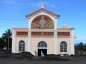 quoi voir à l'île de la Réunion- l'eglise Notre Dame des Laves dans la commune de Sainte-Rose