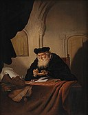 Salomon Koninck - An Old Man Counting his Money - KMSst270 - Statens Museum for Kunst.jpg
