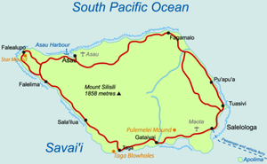 Map of Savaiʻi