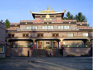 Kagyu Samye Ling Monastery and Tibetan Centre - The main temple building at Samye Ling