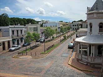 San Germán, Puerto Rico - Plaza Santo Domingo, located in the San Germán Historic District