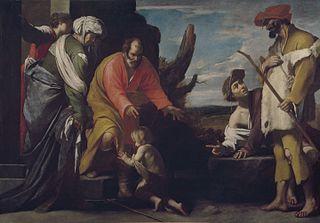 Saint John the Baptist says goodbye to his Parents