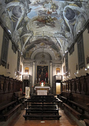 Oratory of San Niccolò del Ceppo - Interior with frescoed ceiling