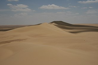 Qattara Depression - Sand dunes in the Qattara Depression