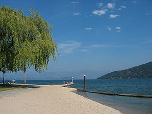 Ufer am Lake Pend Oreille in Sandpoint