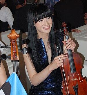 Rändajad - Lead singer Sandra Nurmsalu at Eurovision 2009.