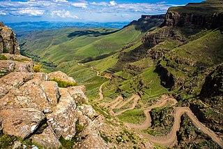 Mountain pass Route through a mountain range or over a ridge