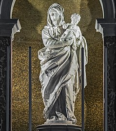 Sant'Alvise (Venice) interior - Madonna of the Rosary by Gian Maria Morlaiter.jpg