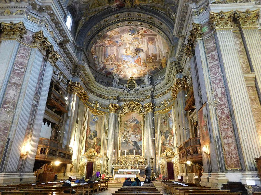 Choeur de l'Eglise baroque Sant'Ignazio di Loyola à Rome - Photo de Fczarnowski